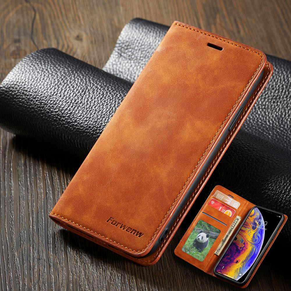 Leather Wallet Flip Samsung Galaxy S10 Plus S10e A90 Cover