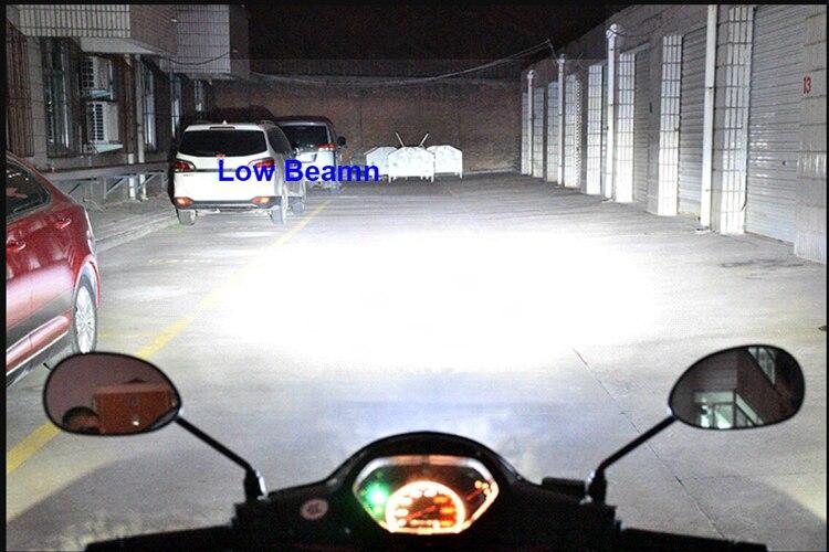 LED Motorcycle Headlight Bulbs Fog Lamp Light Bulbs For ZERO DS S SR 2015 L12-H4 9003 Hi/Lo Beamn Ourdoors Lighting Bulbs 6500K