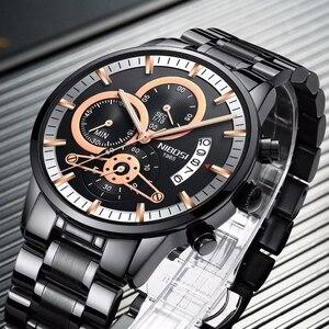 Image 2 - NIBOSI or montre hommes Relogio Masculino haut de gamme marque militaire Sport Quartz horloge mâle automatique Date affaires Reloj Hombre