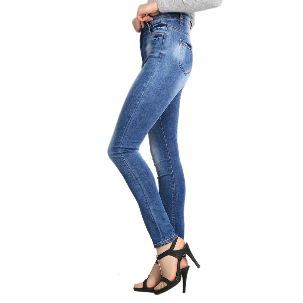 Women Jeans 2017 Fashion Skinny Pants High Waist Jeans Women Blue Denim Pencil Pants Stretch High Quality Plus Size 30 2017 new jeans women spring pants high waist thin slim elastic waist pencil pants fashion denim trousers 3 color plus size