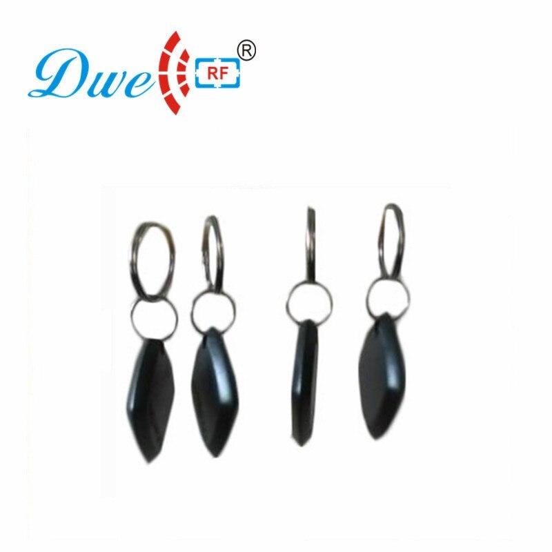 DWE CC RF Proximity EM4100 Token Key Tag Contactless Black Cheap Passive RFID Keyfobs K004