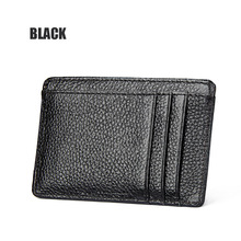 High quality PU Leather Credit Card Holder RFID BLOCKING Men women wallet+RFID protectionCard Case Card & ID Holders