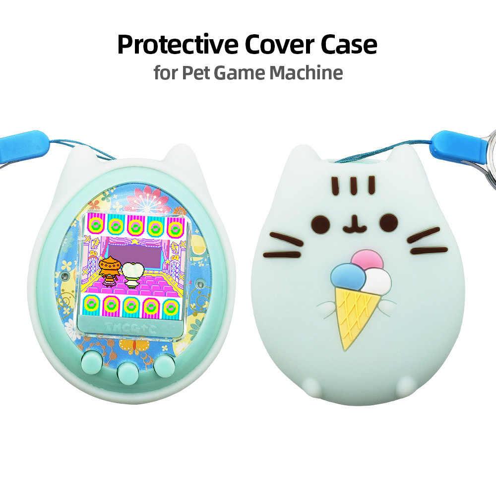 Funda protectora carcasa de silicona para máquina de juegos de mascotas para aparatos electrónicos de dibujos animados máquina de citas Digital para juegos de mascotas