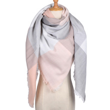 Luxury Brand Square Winter Scarf Women Cashmere Warp Knitting Shawl and Wrap Black Scarves Blanket Not