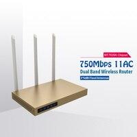 COMFAST 750 mbps wifi router 2.4 ghz + 5.8 ghz yüksek güç sinyal booster 11AC yüksek kazanç kablosuz yönlendirici amplifikatör CF-WR630AC