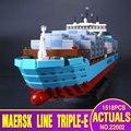 Lepin 22002 1518 Unids Serie Técnica El Maersk Modelo de Barco de Contenedores de Carga Set Bloques de Construcción Ladrillos Educativos Juguetes de Regalo 10241