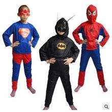 2016 children Red spiderman costume  batman superman halloween costumes for kids superhero capes anime cosplay carnival