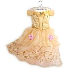 Fashion role-play costume girl dress summer brand little girls dress up costumes belle princess dress for kids
