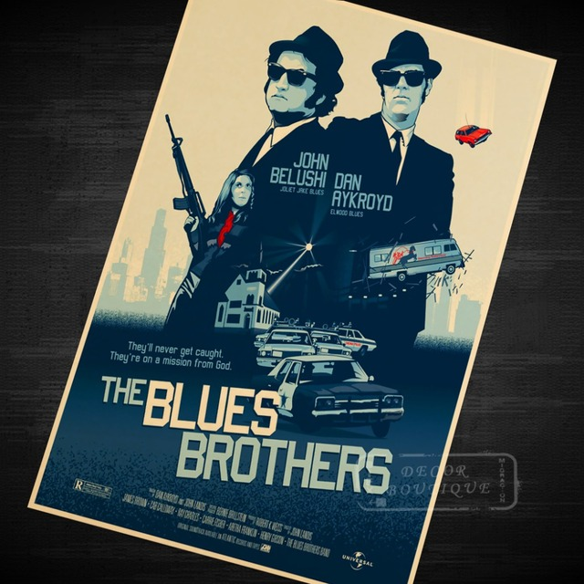 Blues Brother Music Class Propaganda Vintage Kraft Decorative Poster ...