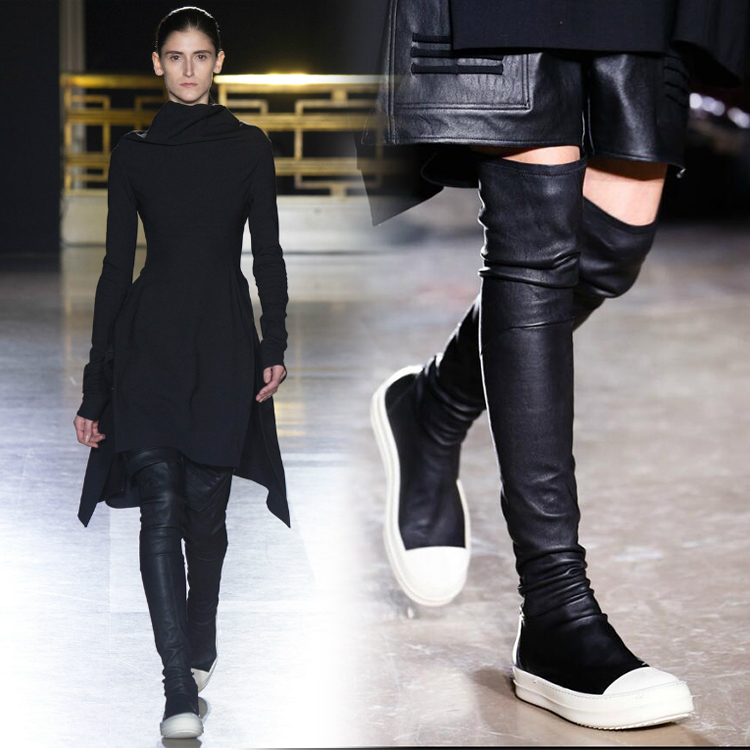 Popular Genuine Leather Tight Over The Knee Boots-Buy Cheap ...
