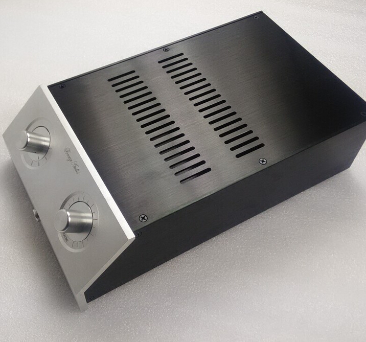 L Type 2210 silver full Aluminum Preamplifier enclosure/amplifier chassis AMP BOX 4309 blank psu chassis full aluminum preamplifier enclosure amp box dac case