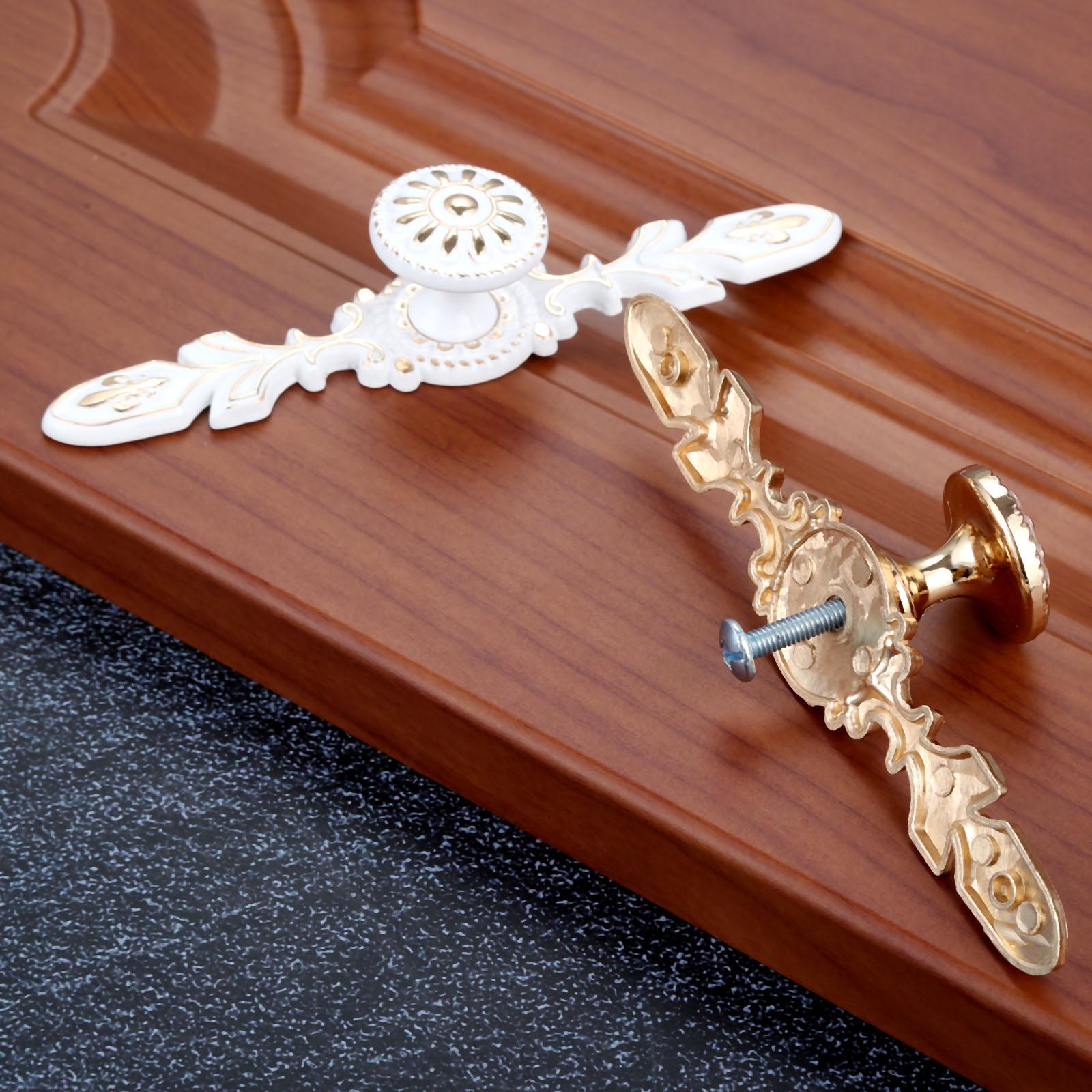 Cabinet Handles Kitchen Cupboard Door Pulls Zinc Aolly Drawer Knobs European Fashion Furniture Hardware Ivory White in Door Handles from Home Improvement