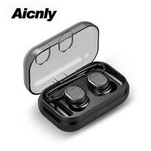 5.0 Mini Bluetooth Fones De Ouvido Com Controle de Toque de Carregamento da Caixa de Música de Alta Fidelidade Headset Ipx5 Fones de Ouvido À Prova D' Água Esporte Para Xiomi Android