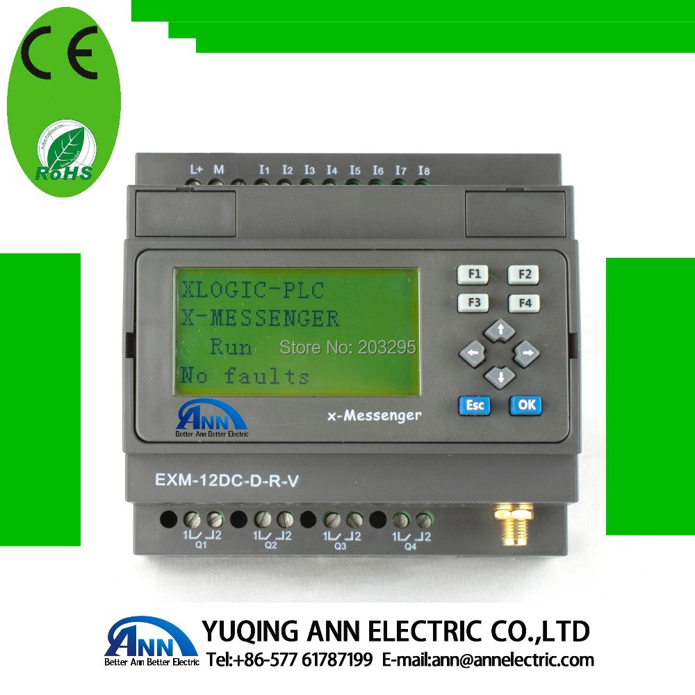PLC  EXM-12DC-DA-R-VN-HMI  with  LCD , Built-in Wifi  capability with 1W speaker built-in & Call-out plc ethernet plc elc 12dc da r n hmi built in ethernet capability