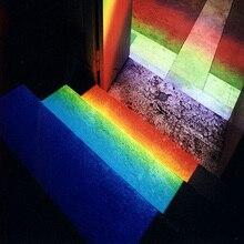 Прямоугольный отражающий треугольный Призма K9 Оптический стеклянный светильник для обучения спектру