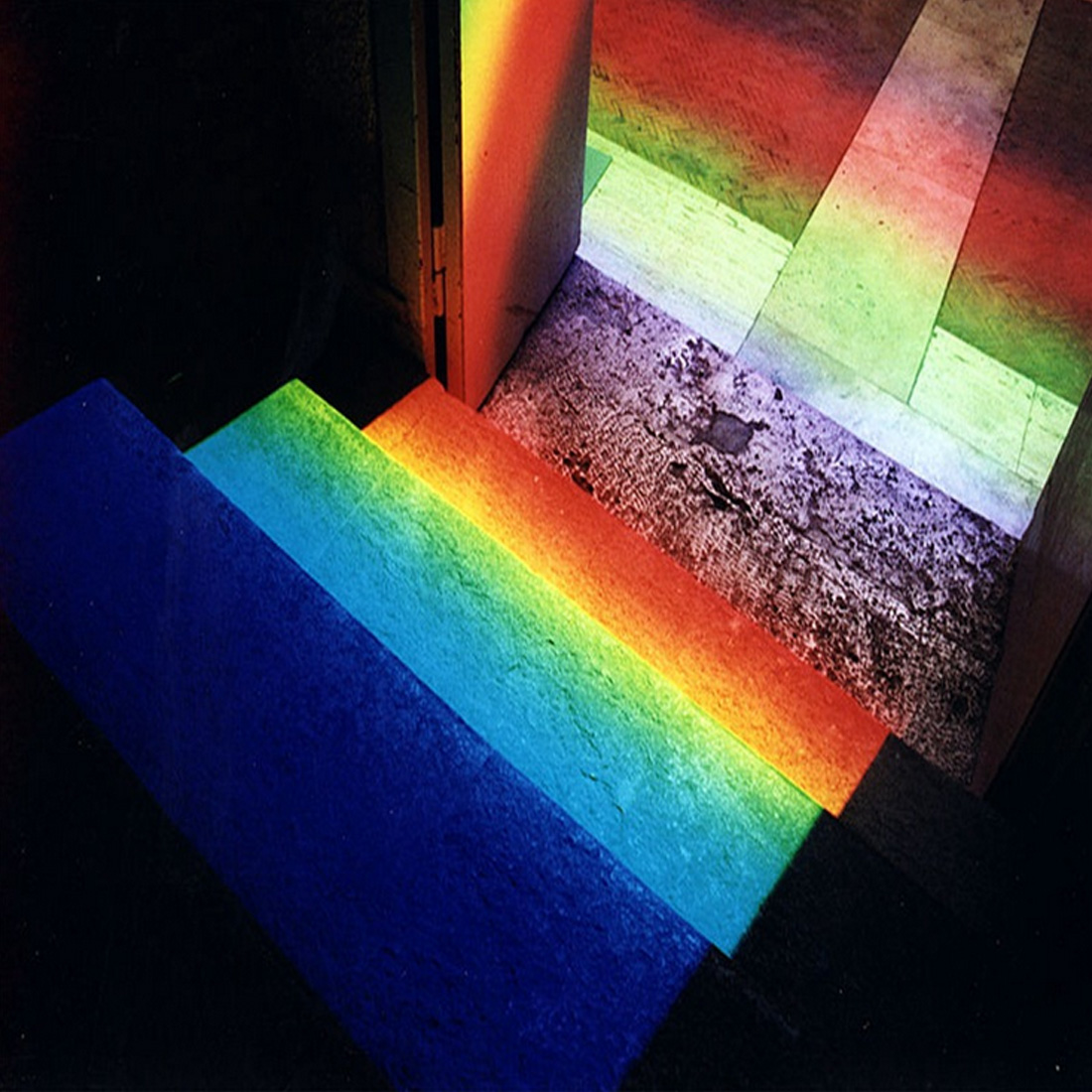 15cmx3cm Rainbow Optical Glass Triple Triangular Prism Physics Teaching SHIP US