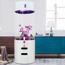 Бытовой Белый Европейский гостиной негабаритных большой средний цилиндрический Акриловый Аквариум воды сплит Тип Аквариум