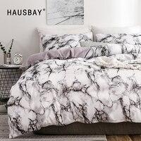 Conjunto de cama 3d padrão de mármore  conjunto de roupa de cama com 2/3 peças dupla rainha  colcha e cama linho sem folha de enchimento bs010