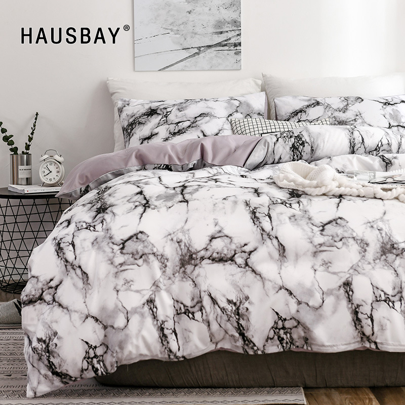 Marble 3D Pattern Bedding Sets Duvet Cover Set 2/3pcs Bed Set Twin Double Queen Quilt Cover Bed Linen No Sheet No Filling BS010