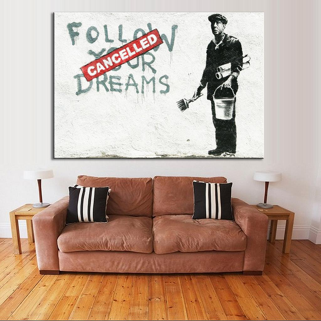Buy Banksy Art Follow Your Dreams