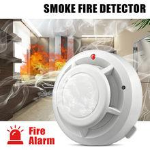 Alta sensível estável independente alarme detector de fumaça de segurança em casa sem fio alarme detector de fumaça sensor equipamentos de incêndio