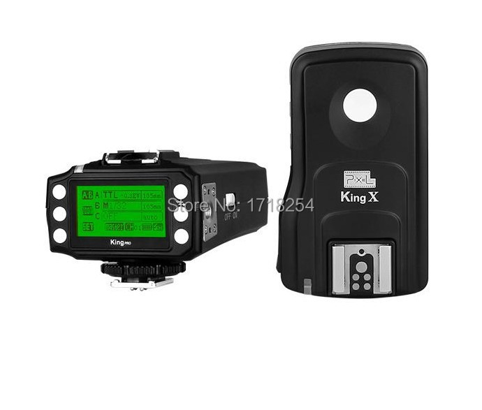 Pixel King Pro Wireless 1/8000s I TTL Flash Trigger with 1 Receivers for Canon 580EX 600EX 430EX 5D Mark II III 5D3 5D2 6D 70D