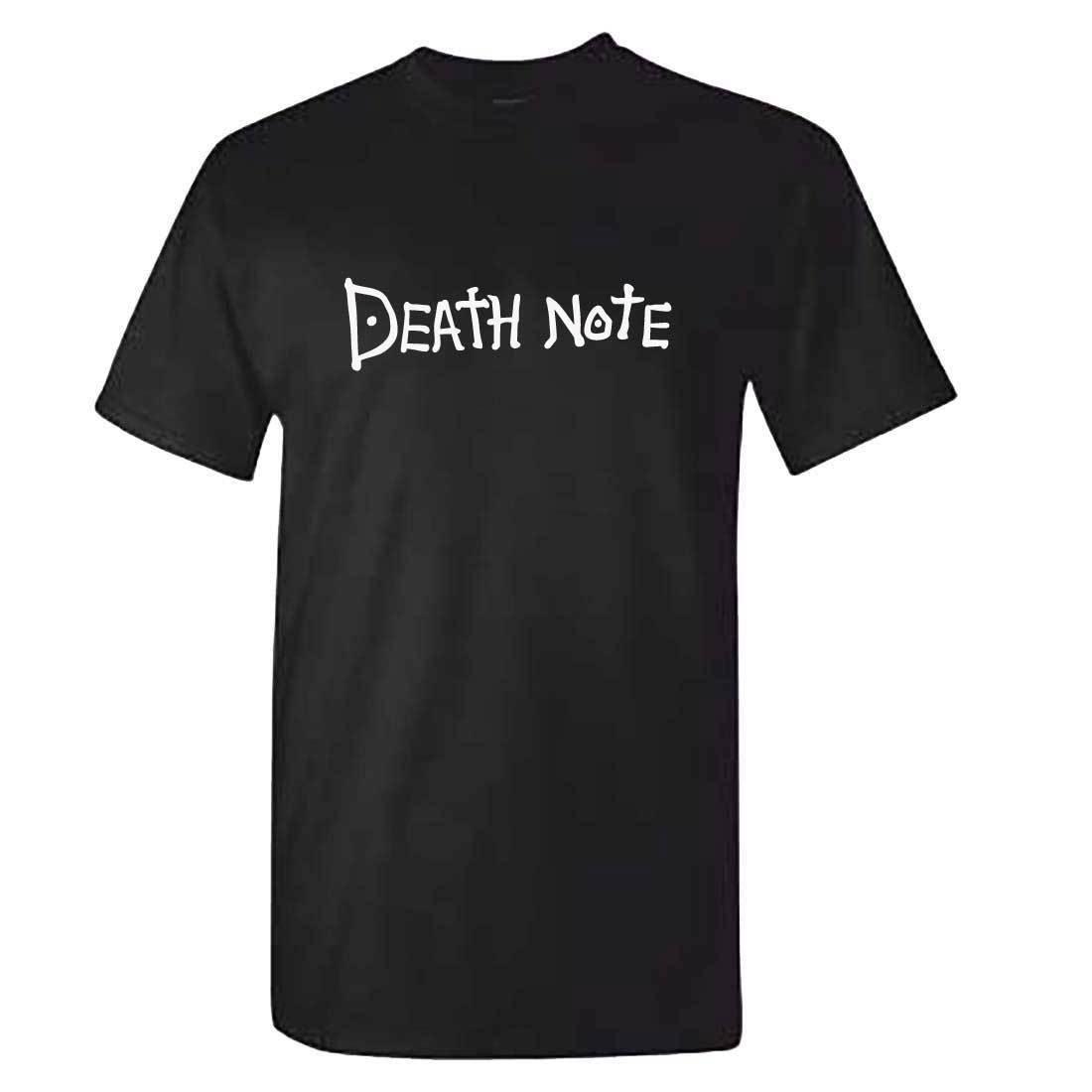 Tops Wholesale Tee Grade Products According To Quality Tsugumi Ohba Anime Manga Comic Deathnote T Shirt Shinigami 100% Cotton Tee Shirt Death Note Tshirt