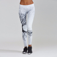 Good Quality Adventure Time Fitness Women Sporting Leggings Fashion Trees 3D Printed Bodybuilding Pants Joggers Workout