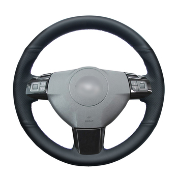 Black PU Artificial Leather Hand Sew Car Steering Wheel Cover for Opel Astra (H) 2004-2009 Zaflra (B) Signum 2005 Vectra  (C) seintex 281 для opel astra h 2004 2009