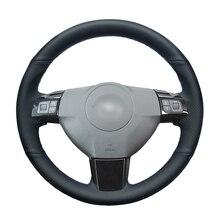 Zwart Pu Kunstleer Hand Naaien Auto Stuurhoes Voor Opel Astra (H) 2004 2009 Zaflra (B) Signum 2005 Vectra (C)