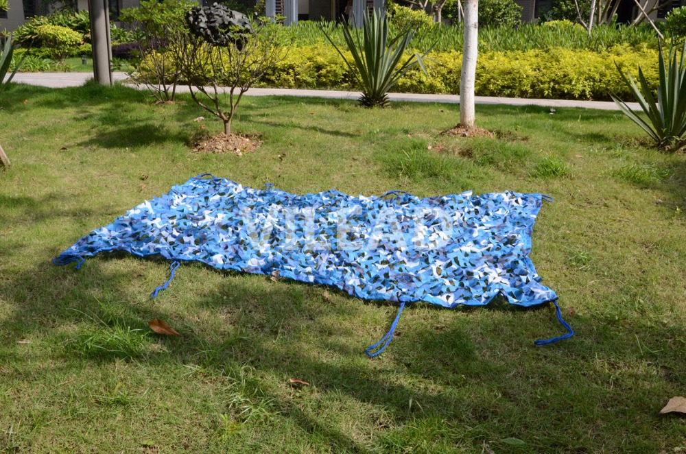 VILEAD 4M*4M Sea Blue Camouflage Nets Camo Netting for Hunting Camping Military Photography Decoration Car Shelter Sun Shelter