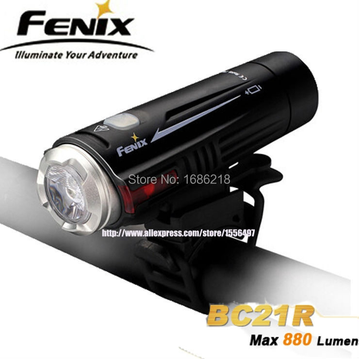 New Arrival FENIX BC21R Dual Distance Beam 880 Lumens T6 LED Flashlight USB Rechargeable Bike Light Cycling with Kits ultra high intensity fenix bc30 remote switch 1800 lumens torch rechargeable t6 led bike light with kits