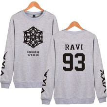 Harajuku K-POP VIXX Hoodies Women Pullover Pink Sweatshirt Fans Support Fleece Tracksuit Couple Clothing VIXX 90 N 93 RAVI VIXX