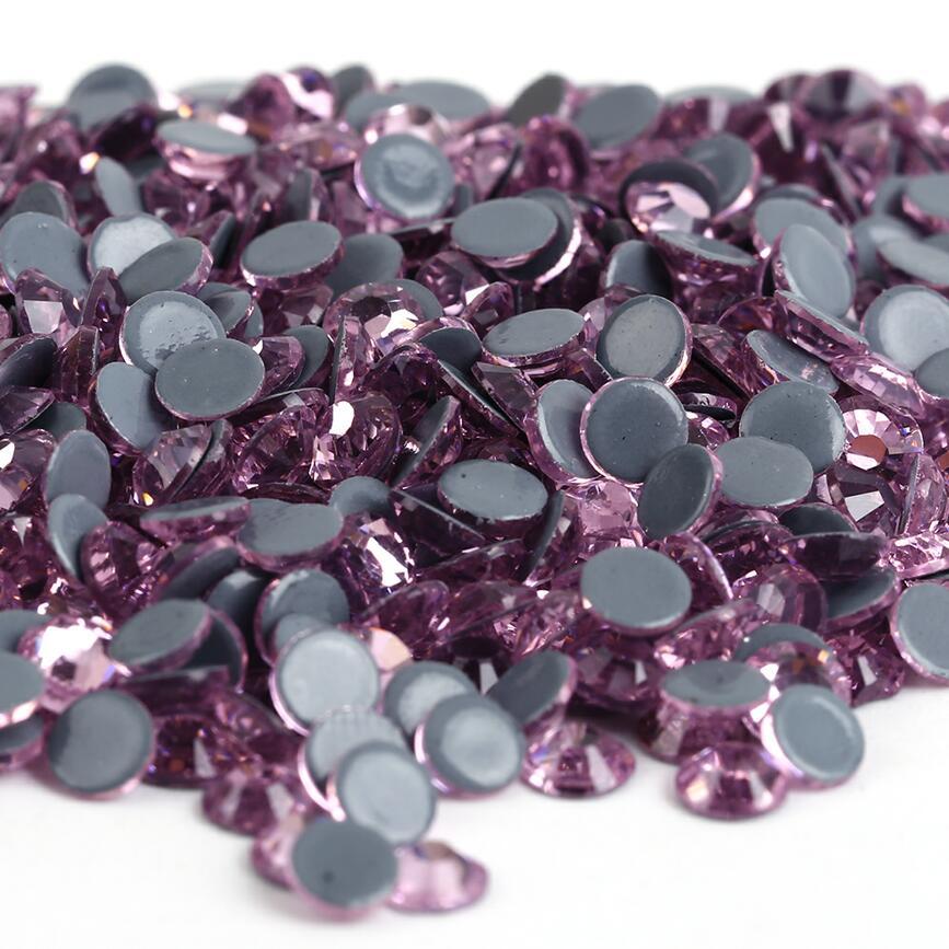 Все размеры 40 цветов кристалл AB исправление стразы, Стекло Стразы исправленное железо на Стразы для дизайна ногтей шитье и ткань Decoretion - Цвет: Lt.Rose