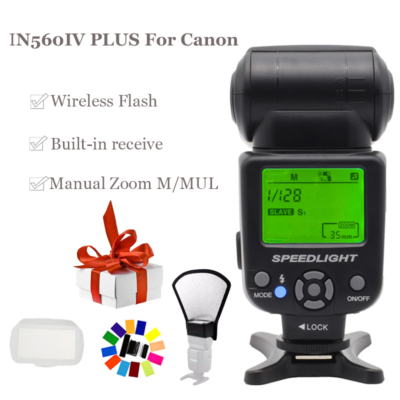 Image 2 - INSEESI IN 560IV IN560IV PLUS & PIXEL M8 LCD FlashLight Wireless Flash Speedlite &TF 361 Wireless Flash Trigger for Canon Camera-in Flashes from Consumer Electronics
