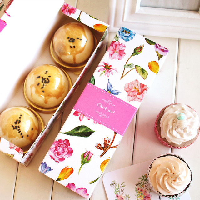 Flower long paper box swiss roll cake boxes cookie mooncake flower long paper box swiss roll cake boxes cookie mooncake cardboard paper box gift cake bakery negle Images