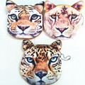 M018 Cute Cartoon Image Tiger Lion Leopard Plush Wallet Casual Creative Coin Bag Purse Cloth Girl Women Student Gift Wholesale