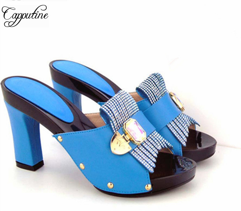 Capputine Fashion Women's Platform Shoes For Wedding New African Ladies High Heels Pumps Shoes For Dress Size 37-43 Shipping DHL siketu 2017 free shipping spring and autumn women shoes fashion sex high heels shoes red wedding shoes pumps g107