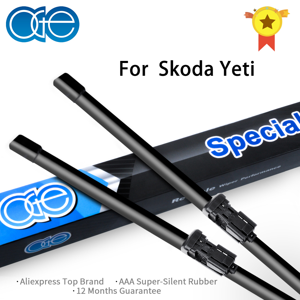 Oge 24''+19'' Wiper Blades For Skoda Yeti 2009 2010 2011 2012 2013 2014 2015 High Quality Rubber Windshield Car Accessories