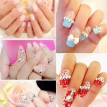100pcs White AB Colour Pearl Nail