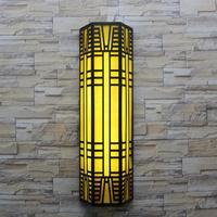 Наружное освещение в стиле модерн вертикальный лампа для двора уличные настенные фонари сад света T5 светодиодный или люминесцентная лампа