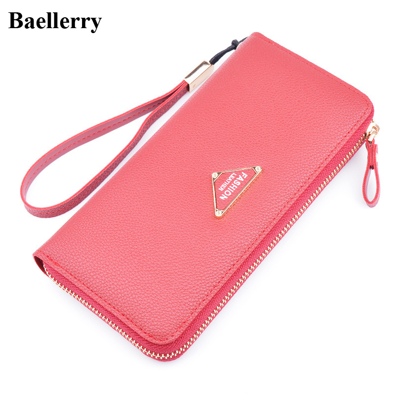 New Designer Leather Phone Wallets Women Brand Long Zipper Red Coin Purses Female Clutch Wallets Money Bags With Card Holders sambhaji v mane milk processing organisations in western maharashtra