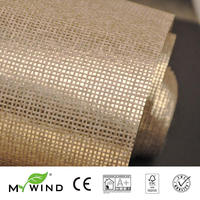 2019 MY WIND Grasscloth Wallpapers Luxury Natural Material Innocuity gold Paper Weave Design Wallpaper Roll Decor papier peint