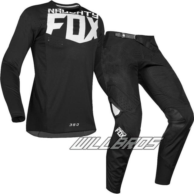 MX 360 Kila Black Jersey Pants Motocross Motorcycle Dirt bike ATV MTB DH Racing Men's Gear Set