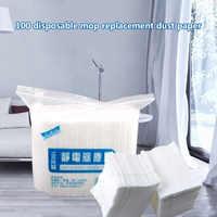 100 шт. Удобная Горячая одноразовая Электростатическая бумага для швабры для удаления пыли домашняя уборка кухни, ткань для ванной 99 AU09 для