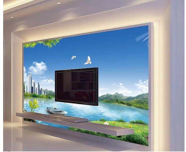 Wandbilder natur  3d wandbilder Dekoration Natur Stadt Außen Landschaft 3D ...