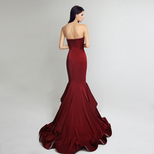 Long Mermaid Sweetheart Ruffles Evening Dress