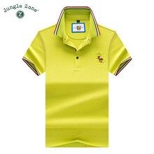 2018 New arrival 3D Embroidery Poloshirt fashion men polo shirt brand polo Top Quality men cotton breathable men polo 9093