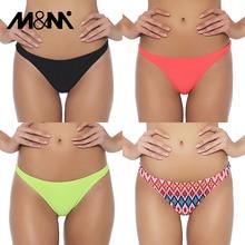 M& M Женский Бразильский бикини снизу микро спортивные шорты для мужчин девочек комплект бикини сексуальные трусики купальный костюм плавки B604