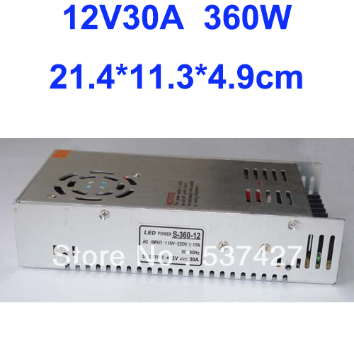 ФОТО 12V 30A 360W Switching Power Supply Driver DC Converter for LED Strip light AC100V-240V Input, CE&RoHS Certified